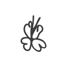 logo for web design shape label line ribbon vector image