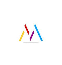 m monogram colored logo vector image