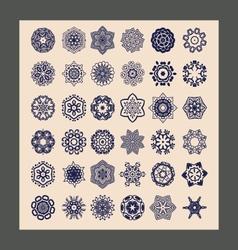 Mandalas set Decorative ethnic vector