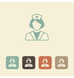 Medical professional Nurse icon vector image