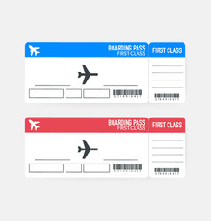 mobileairline boarding pass tickets to plane for vector image