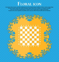 Modern Chess board icon Floral flat design on a vector image