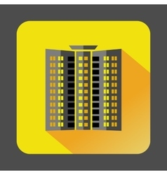 Multistory building icon flat style vector