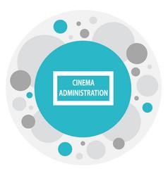 Of cinema symbol on cinema vector