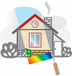 Painted house vector