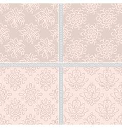 Pastel beige seamless ethnic pattern vector image
