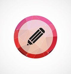 pencil circle pink triangle background icon vector image
