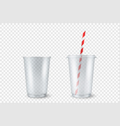 realistic 3d empty clear plastic opened vector image