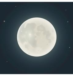 realistic moon in night sky vector image