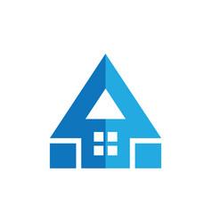 roof home triangle arrow logo vector image