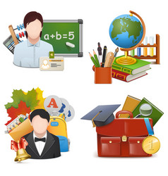 School Concept Icons Set 2 vector image
