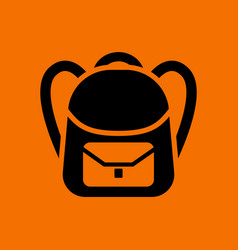 School rucksack icon vector