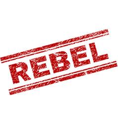Scratched textured rebel stamp seal vector