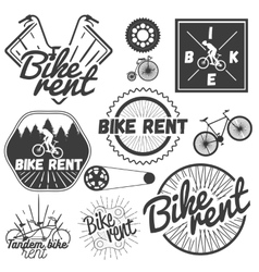 Set of bicycle labels in vintage style vector