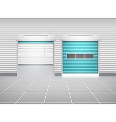 Shutter Door And Floor vector