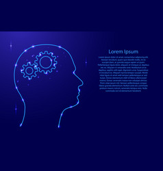 silhouette of a human head with gears instead of vector image