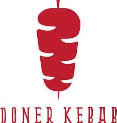 Simple flat of doner kebab vector