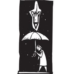 single missile umbrella vector image