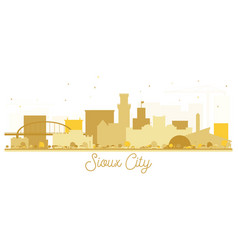 Sioux city skyline golden silhouette vector