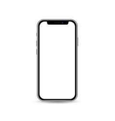 Smartphone template isolated on white background vector
