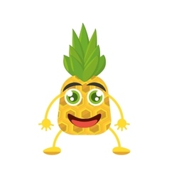 Smiling pineapple food tropical vector