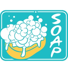 Soap label vector image