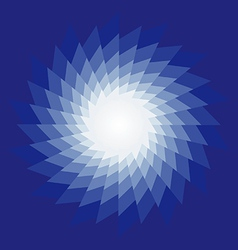 Spiral radiating sun burst on vector image