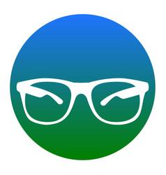 sunglasses sign white icon vector image