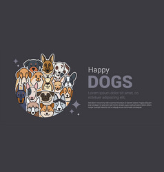 template a banner for a dog shop vector image