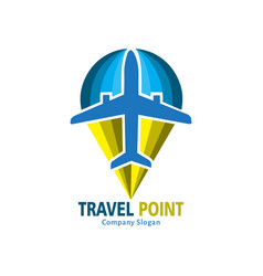 travel point logo vector image