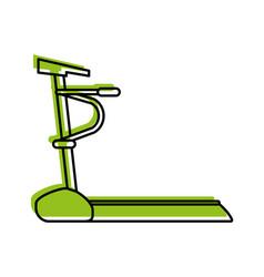 treadmill machine fitness icon image vector image