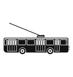 Trolleybus icon simple style vector