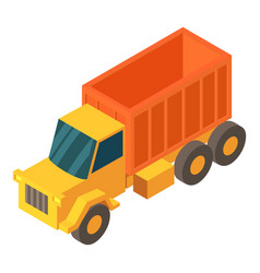 truck cargo icon isometric 3d style vector image