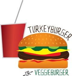 Turkey or Veggie vector