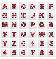Uk alphabet vector