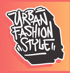 urban style fashion street wear 90s casual vector image