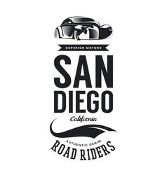 Vintage classic vehicle logo vector