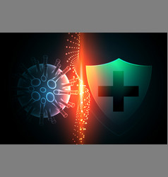 Virus protection shield preventing coronavirus vector