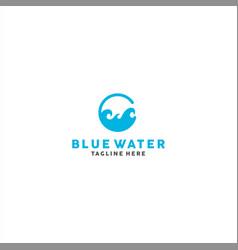 wave logo design template idea vector image