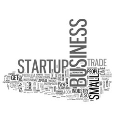 what is a business startup text word cloud concept vector image