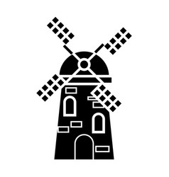 windmill icon sign o vector image
