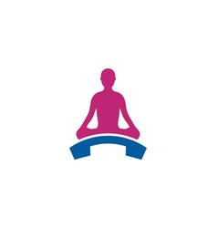 Yoga call logo icon design vector