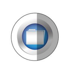 blue symbol file icon vector image