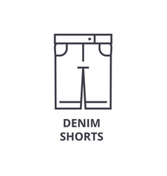 denim shorts line icon outline sign linear vector image vector image