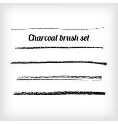 Hand drawn charcoal brush set Scalable grunge vector image