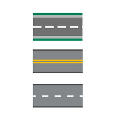 template set of straight asphalt roads highways vector image