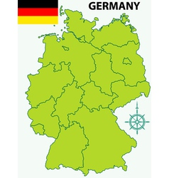 Map of Germany and flag vector image
