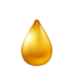 oil drop isolated on white background vector image vector image