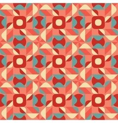 Seamless Blue Pink Color Geometric Ethnic vector image vector image