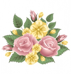 vintage bouquet vector image